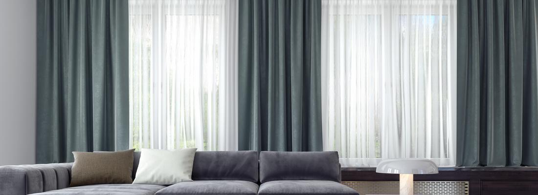 Moderne und elegante elektrische Vorhangschienen